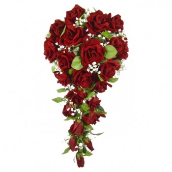 Red Velvet Cascade Bouquet