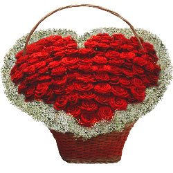 More Than Words Heart-Shaped Flower Basket