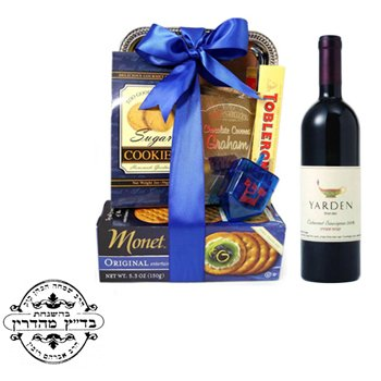 Taste of Sweet Delights with Red - Gourmet-Gift-Baskets on www.israelflorist.com