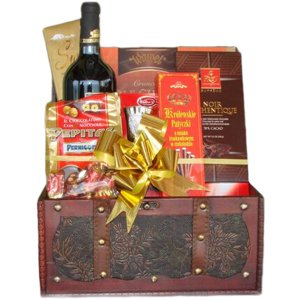 Chocolates Galore Gift Box - Wine-and-Champagne on www.israelflorist.com